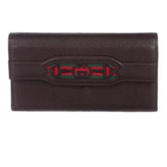 Gucci Handbags - →NICE← Gucci Leather Continental Checkbook Wallet